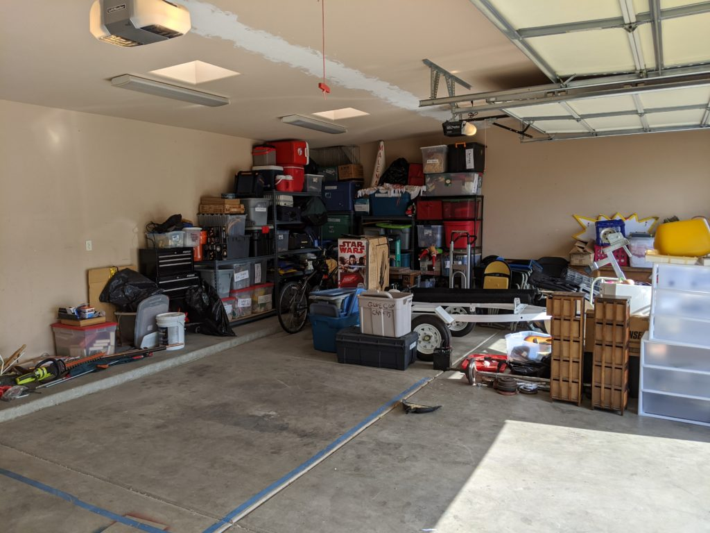A much cleaner garage
